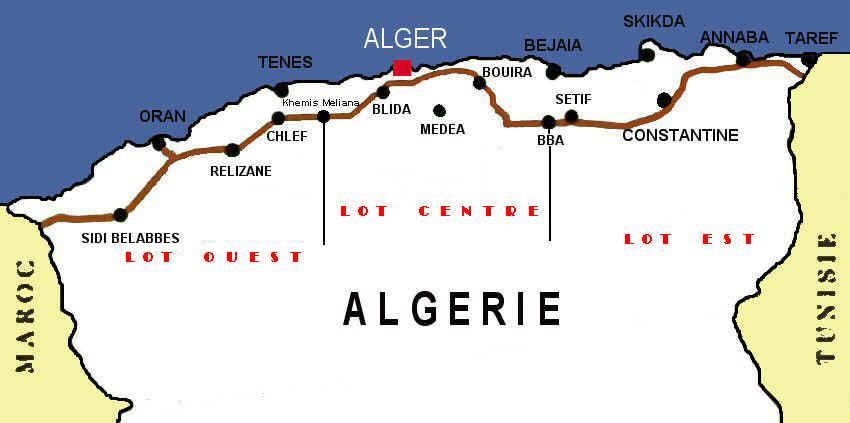 Carte Algerie Autoroute Est Ouest.Opportunite D Affaires Algerie Autoroute Est Ouest Lancement Des